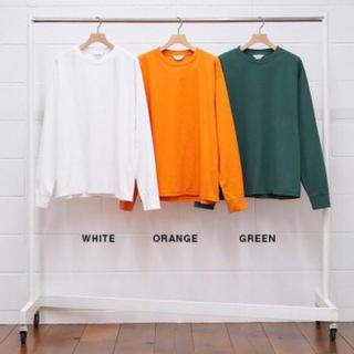 コモリ(COMOLI)のUNUSED アンユーズド US1867 オレンジ サイズ2 新品 コモリ (Tシャツ/カットソー(七分/長袖))