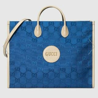 Gucci - GUCCI グッチ 新品 本物 限定 GG トートバッグ ブルー 2way