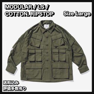 ダブルタップス(W)taps)の【L】 MODULAR LS / SHIRT. COTTON. RIPSTOP(ミリタリージャケット)