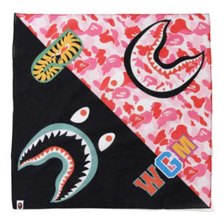 A BATHING APE - BAPE ABC CAMO SHARK BANDANA Pink 新品未使用