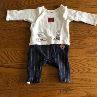ピーナッツ(PEANUTS)のベビー服 ロンパース スヌーピー ピーナッツ 70(ロンパース)