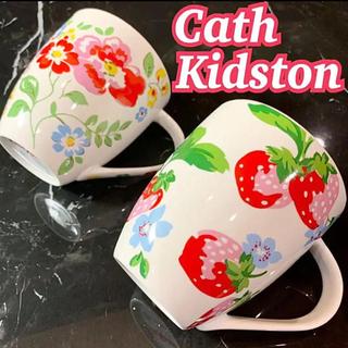 Cath Kidston - キャスキッドソン クラッシュマグ ストロベリー ランブリングローズ