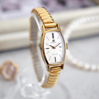 オメガ(OMEGA)の美品✨オメガ K18 20μ トノー型 ベルト2本✨トゥモローランド agete(腕時計)