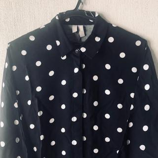 エイソス(asos)のASOS ドット柄オーバーサイズシャツ(シャツ/ブラウス(長袖/七分))
