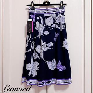 レオナール(LEONARD)の新品タグ付【LEONARD】2019年人気柄ニットスカート(ひざ丈スカート)