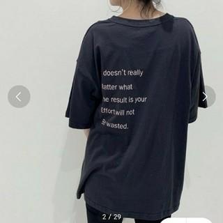 ジーナシス(JEANASIS)のJEANASISオフセンターバックロゴT(Tシャツ(半袖/袖なし))