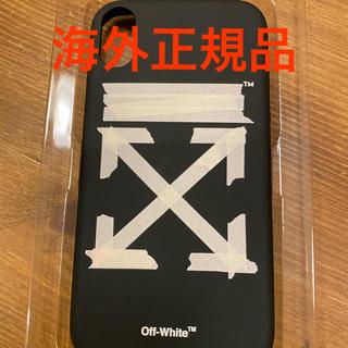 オフホワイト(OFF-WHITE)のoff-white iPhone XR ケース ブラック&ベージュ テープアロー(iPhoneケース)