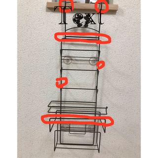 ベルメゾン(ベルメゾン)のディズニー 冷蔵庫横収納ラック&布巾ハンガー(収納/キッチン雑貨)