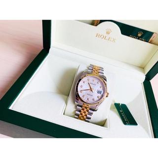 ロレックス(ROLEX)の正規品 Rolex DATEJUST コンピュータ盤 ダイヤ10P(腕時計(デジタル))