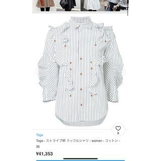 トーガ(TOGA)のトーガ ストライプシャツ(シャツ/ブラウス(長袖/七分))