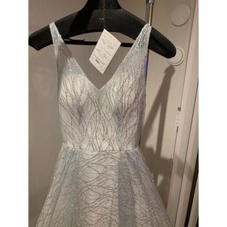 美品 ウェディング ラザロ3662 ラザロ風 キラキラドレス(ウェディングドレス)