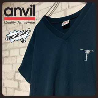 アンビル(Anvil)の【USA製】anvil アンビィルボディ サーフ VネックTシャツ (Tシャツ/カットソー(半袖/袖なし))