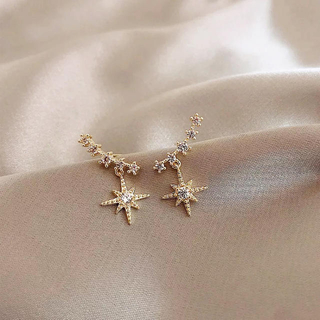 gold star zirconia pierce ◯s925 post
