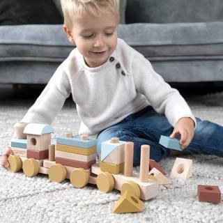 ボーネルンド(BorneLund)のlittle dutch 積み木 電車 木製おもちゃ(電車のおもちゃ/車)