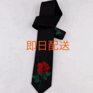 ラッドミュージシャン(LAD MUSICIAN)の薔薇 刺繍 ネクタイ 新品未使用 送料無料 即日発送可(ネクタイ)