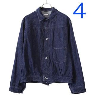 コモリ(COMOLI)の【新品タグ付き】comoli デニムジャケット 20aw SIZE 4(Gジャン/デニムジャケット)