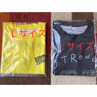 サントリー(サントリー)のストロングゼロ  Tシャツ 黒 黄色【L】(その他)