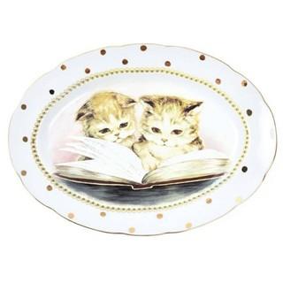 フランシュリッペ(franche lippee)のフランシュリッペ 大皿 デットストック陶器 猫 ダイアリー(食器)