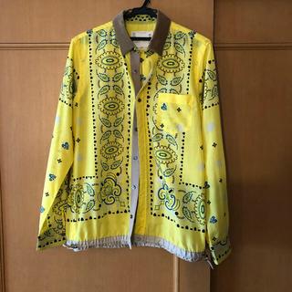 サカイ(sacai)のsacai  サカイ バンダナ柄 ドローコードシャツ  サイズ2(シャツ)