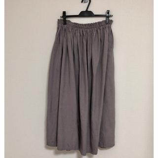 ネストローブ(nest Robe)の【オトナのリネン】国産リネン100% ロングギャザースカート(ロングスカート)