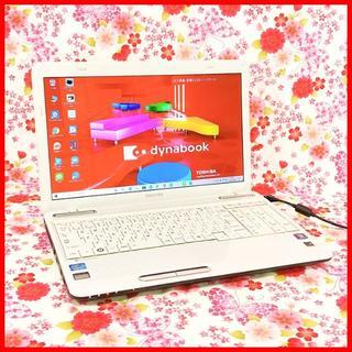 トウシバ(東芝)の希少ドット柄ホワイト✨美麗品✨写真・動画保存&編集/Core i5×メモリ4GB(ノートPC)