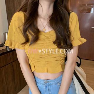 ロイヤルパーティー(ROYAL PARTY)のDWstyle ギャザーニット 美品 韓国ファッション(ニット/セーター)
