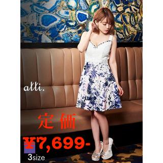 デイジーストア(dazzy store)の【alli.】花柄レースノースリタイトミニドレス(ナイトドレス)