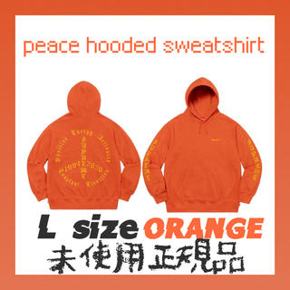 シュプリーム(Supreme)のsuprem peace hooded sweatshirt ORANGE L(パーカー)