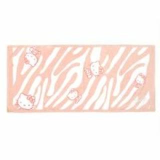 レディー(Rady)のRady×HELLO KITTY ピンクゼブラ柄バスタオル(ピンク)(その他)
