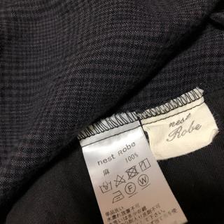 ネストローブ(nest Robe)のネストローブ nest Robe リネングレンチェックイージースカート(ロングスカート)