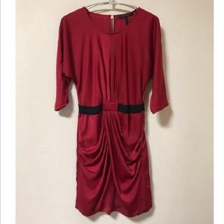 ビーシービージーマックスアズリア(BCBGMAXAZRIA)のBcbg インポート ワンピース オールシーズン ドレス 赤(ひざ丈ワンピース)