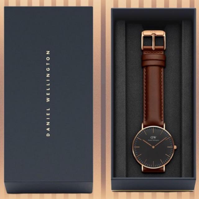 Daniel Wellington(ダニエルウェリントン)の安心保証付き【40㎜】ダニエルウエリントン 腕時計〈DW00100124〉 メンズの時計(腕時計(アナログ))の商品写真