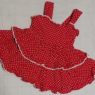 シャーリーテンプル(Shirley Temple)の80 シャーリーテンプル 赤ドットの2段フリルワンピース(ワンピース)