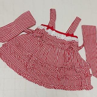 シャーリーテンプル(Shirley Temple)の80 シャーリーテンプル 3段フリルのギンガムのワンピース(ワンピース)