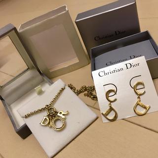 クリスチャンディオール(Christian Dior)のクリスチャンディオール ピアスネックレスセット(ピアス)