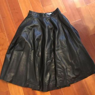 フレイアイディー(FRAY I.D)のフレイアイディー   レザー スカート  ブラック (その他)