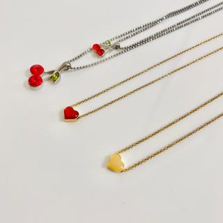 ウィゴー(WEGO)の【美品】Lattice WEGO さくらんぼ ハート ネックレス(ネックレス)