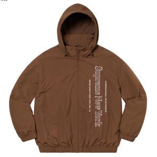 シュプリーム(Supreme)のSupreme Side logo track jacket brown L(ナイロンジャケット)