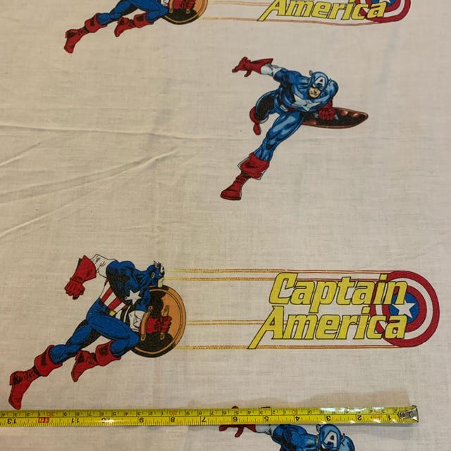 MARVEL(マーベル)のマーベル キャプテンアメリカ フラットシーツ 生地438 アメリカ製 ハンドメイドの素材/材料(生地/糸)の商品写真