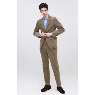 ジーユー(GU)のGU コーデュロイ セットアップ スーツ 販売終了 新品未使用 ブラウン (セットアップ)