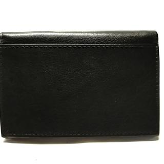 バーニーズニューヨーク(BARNEYS NEW YORK)のバーニーズ 札入れ美品  - 黒 レザー(財布)