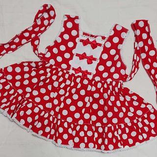 シャーリーテンプル(Shirley Temple)の80 シャーリーテンプル 水玉ドットとリボンのワンピース(ワンピース)