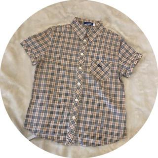 バーバリー(BURBERRY)のバーバリー❤︎半袖チェックシャツ(シャツ/ブラウス(半袖/袖なし))