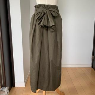 マルティニークルコント(martinique Le Conte)のウィムガゼット Whim Gazette スカート カーキ 36(ロングスカート)