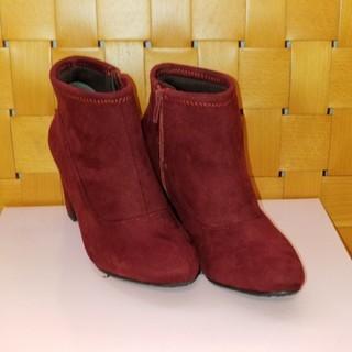 ジェリービーンズ(JELLY BEANS)の♪ジェリービーンズの赤のスエードブーツ♪(ブーツ)