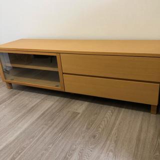 ムジルシリョウヒン(MUJI (無印良品))の木製AVラック 幅150cm 無印良品(リビング収納)