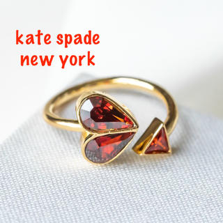 ケイトスペードニューヨーク(kate spade new york)の【新品♠︎本物】ケイトスペード ストーンハート リング レッド(リング(指輪))