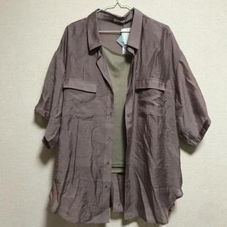 シマムラ(しまむら)のプチプラのあや シャツ+タンク(シャツ/ブラウス(半袖/袖なし))