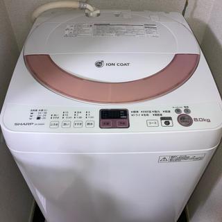 シャープ(SHARP)のSHARP ES-GE60N 全自動洗濯機 2014年製(洗濯機)