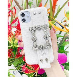 レディー(Rady)のビジューiphone11/XR ケース 新品 rady   ホワイト スマホ(iPhoneケース)